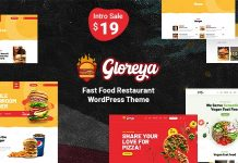 Gloreya v1.0 - Fast Food WordPress Theme