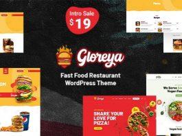 Gloreya v1.0 - Fast Food WordPress Theme