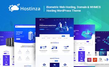 Hostinza v1.8.5 - Isometric Domain & Whmcs Web Hosting WordPress Theme