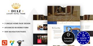 Hotel Diaz v1.8 - Hotel Booking Theme