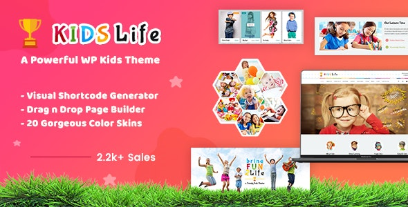 Kids Life v1.8 - Children WordPress Theme