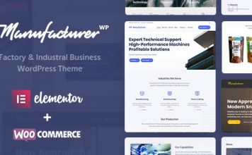 Manufacturer v1.1.7 - Factory and Industrial WordPress Theme