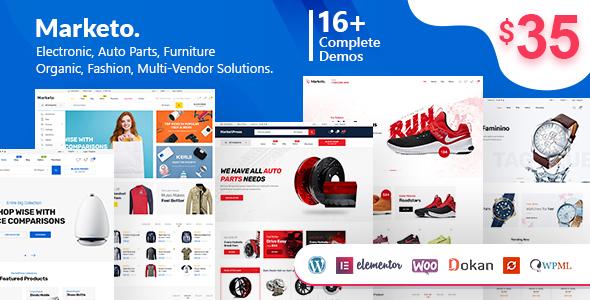 Marketo v1.9.6 - ECommerce & Multivendor A WooCommerce WordPress Theme