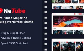 Netube v1.0.2 - Viral Video Blog / Magazine WordPress Theme