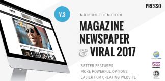 PRESSO v3.3.7 - Modern Magazine / Newspaper / Viral Theme