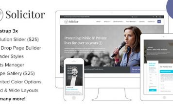 Solicitor v1.6 - Law Business Responsive WordPress Theme