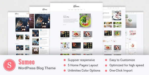 Sumeo v2.0.0 - Blog WordPress Themes