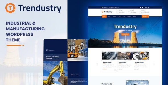 Trendustry v1.0.4 - Industrial & Manufacturing WordPress Theme