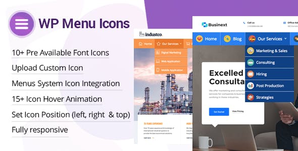 WP Menu Icons v1.1.3 - Effectively Add & Customize Icons For WordPress Menus