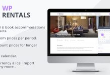 WP Rentals v2.8.1 - Booking Accommodation WordPress Theme