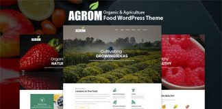 Agrom v1.0 - Organic & Agriculture Food WordPress Theme