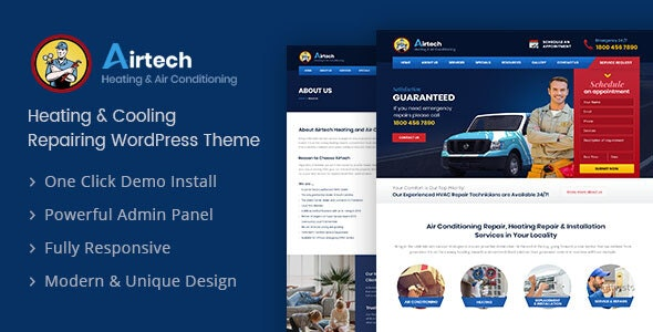 Airtech v1.4 - Plumber WordPress theme