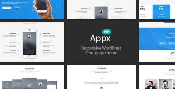 Appx v1.2.5 - Mobile App Showcase WordPress Theme