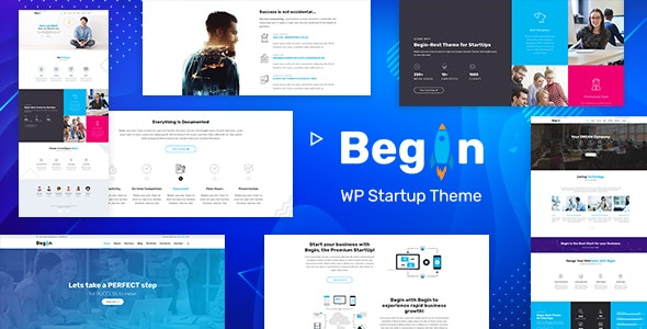Begin v1.8 - Startup, SaaS WordPress Theme