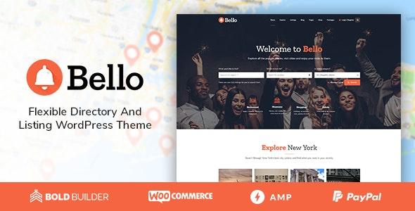 Bello v1.4.4 - Directory & Listing WordPress Theme