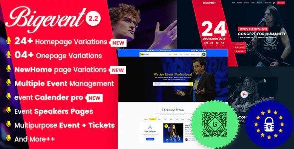 BigEvent v2.3.4 - Conference Event WordPress Theme