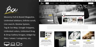 Bou v2.5 - Masonry Review Magazine Blog WordPress Theme