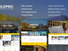 BuildPro v1.0.9.5 - Business, Building & Construction WordPress Theme