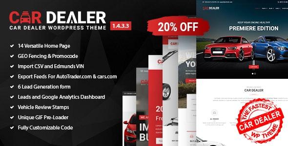 Car Dealer v1.4.3.3 - Automotive Responsive WordPress Theme