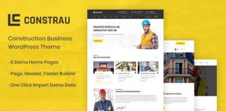 Constrau v1.1 - Construction Business WordPress Theme