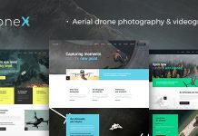 DroneX v1.1.0 - Aerial Photography & Videography WordPress Theme