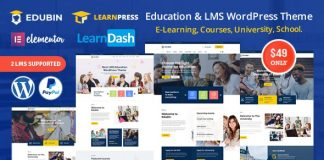 Edubin v3.0.0 - Education LMS WordPress Theme