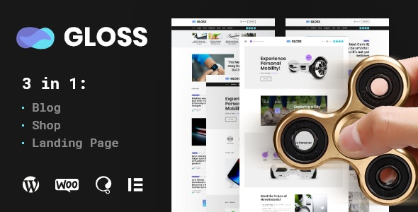 Gloss v1.0 - Viral News Magazine WordPress Blog Theme + Shop