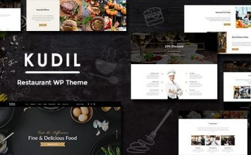 Kudil v1.5 - Cafe, Restaurant WordPress Theme