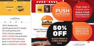 Lafka v1.2.8 - WooCommerce Theme for Burger Pizza Fast Food Delivery & Restaurant