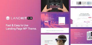 Landkit v1.9 - WordPress Landing Page Theme