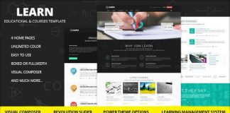 Learn v1.0.9.2 - Education, eLearning WordPress Theme