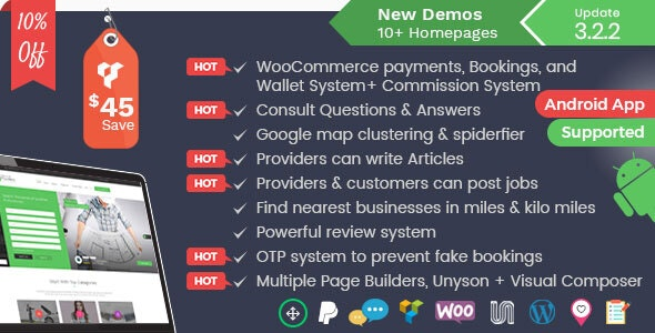 Listingo v3.2.2 - Service, Business Finder and Directory