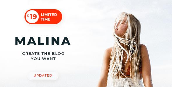 Malina v1.6.4 - Personal WordPress Blog Theme