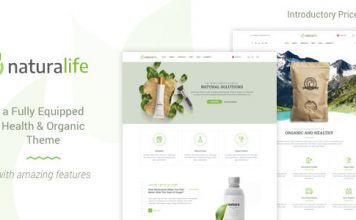 NaturaLife v1.8 - Health & Organic WordPress Theme