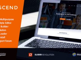 Oscend pluse v2.3 - WordPress Theme