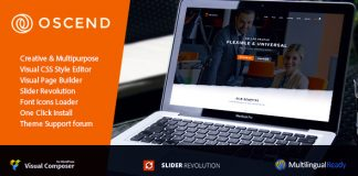 Oscend pluse v2.3 - WordPress Theme