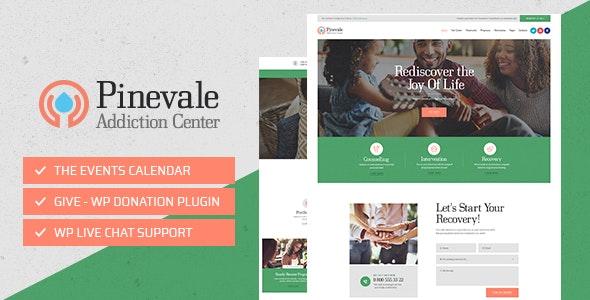 Pinevale v1.0.3 - Addiction Recovery and Rehabilitation Center WordPress Theme