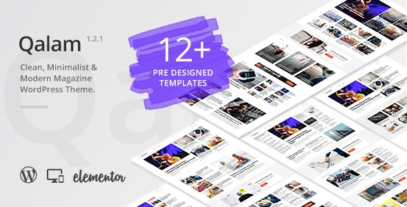 Qalam v1.2.3 - NewsPaper and Magazine WordPress Theme