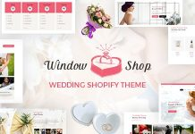 Window Shop v1.0 - Wedding Shopify Store