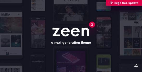 Zeen v3.1.0 - Next Generation Magazine WordPress Theme