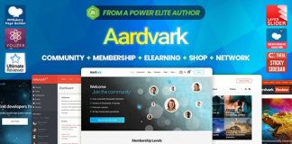 Aardvark v4.14 - Community, Membership, BuddyPress Theme