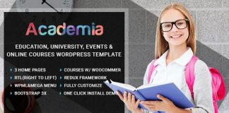 Academia v2.5 - Education Center WordPress Theme