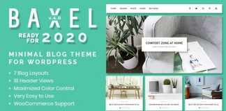 Baxel v4.0 - Minimal Blog Theme for WordPress