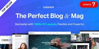 CheerUp v7.0.2 - Blog / Magazine - WordPress Blog Theme