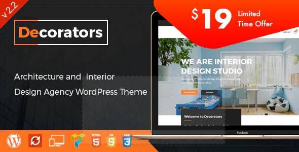 Decorators v2.2 - WordPress Theme for Architecture & Modern Interior Design Studio