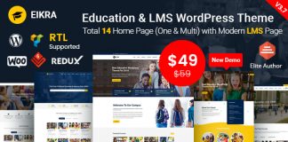 Eikra Education v3.8.2 - Education WordPress Theme