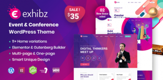 Exhibz v2.1.8 - Event Conference WordPress Theme