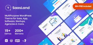 SaasLand v2.2.5 - MultiPurpose Theme for Saas & Startup