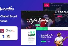 Anondho v1.0 - Night Club & Event WordPress Theme