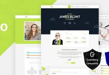 Bio v1.7 - Resume, CV, Freelancer WordPress Theme